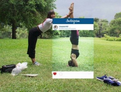 Instagram, le post workout