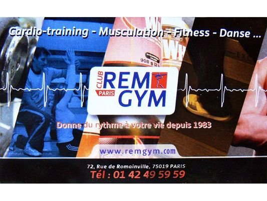 Club Rem Gym Paris 19